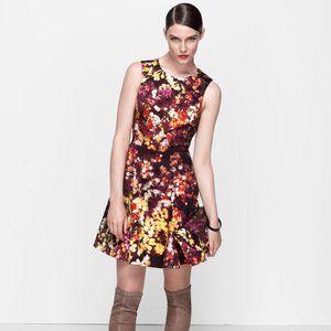 Karen Millen Blossom Print Fit & Flare Mini Dress